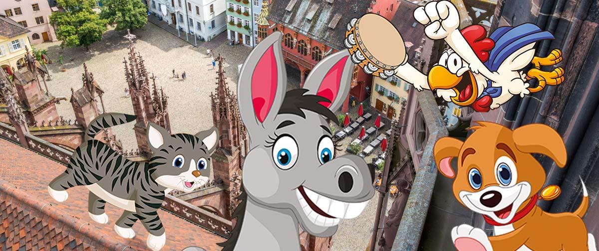 Ausgebucht – Die Freiburger Stadtmusikanten – Musik- und Bewegungstheater für Kinder