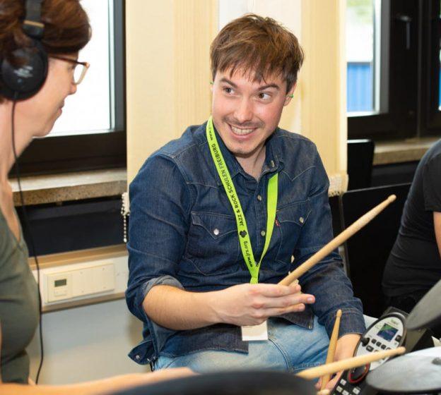 Jan Lange Schlagzeug an den JRS